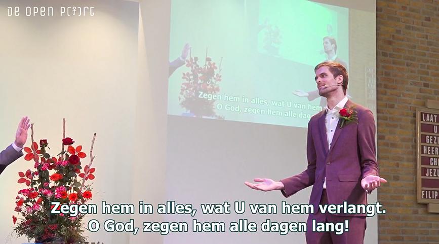 Jasper Bosman bevestigd als predikant van de Open Poort