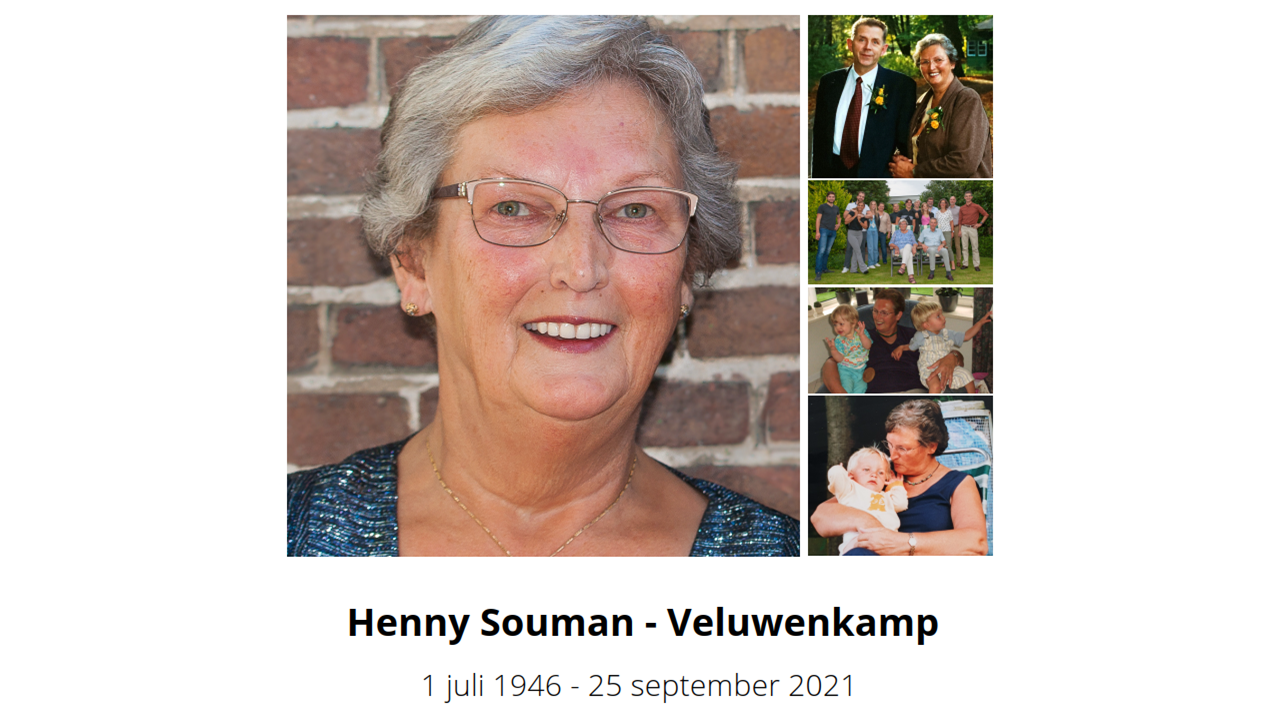 Rouwkaart Henny Souman